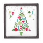 árbol de navidad retro del vintage moderno caja de regalo de calidad