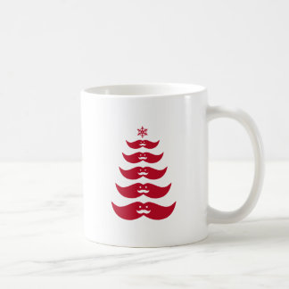 Árbol de navidad rojo del bigote de Santa Taza
