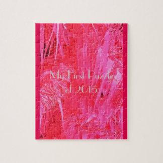 Árbol de navidad rosado brillante rompecabeza