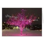 Árbol de navidad rosado tarjetas