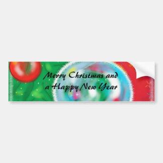 Árbol de navidad - saludo magnífico pegatina de parachoque