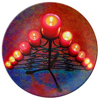 Árbol de navidad Schmiedeeiserner, Weihnacht, advi Platos De Cerámica