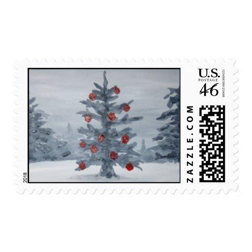 árbol de navidad sello