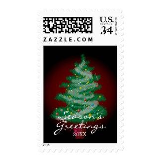 árbol de navidad sellos postales