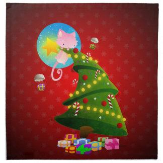 Árbol de navidad servilletas de papel