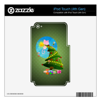 Árbol de navidad skins para iPod touch 4G