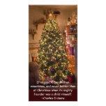 Árbol de navidad tarjetas fotograficas personalizadas