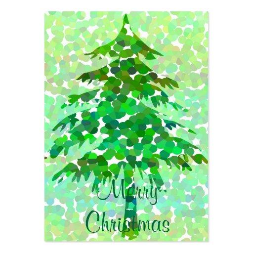 Árbol de navidad - tarjeta de etiqueta del regalo plantillas de tarjetas personales