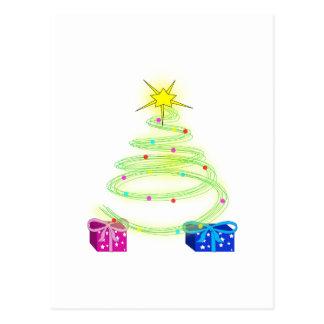 Árbol de navidad tarjeta postal