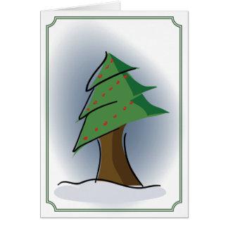 Árbol de navidad tarjetas