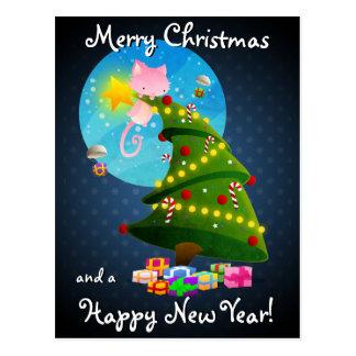 Árbol de navidad tarjetas postales