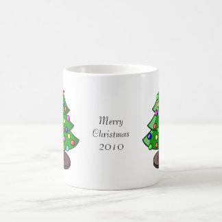Árbol de navidad tazas de café