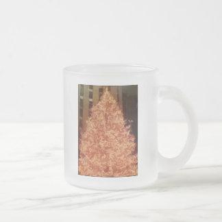 Árbol de navidad taza cristal mate