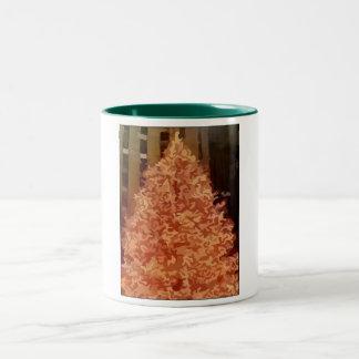 Árbol de navidad taza dos tonos