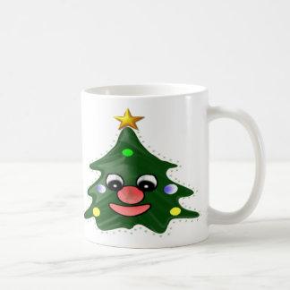Árbol de navidad taza de café