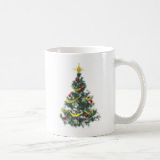 árbol de navidad taza básica blanca