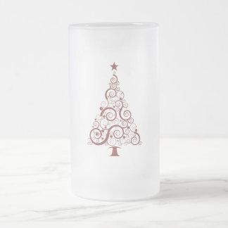 Árbol de navidad taza de cristal