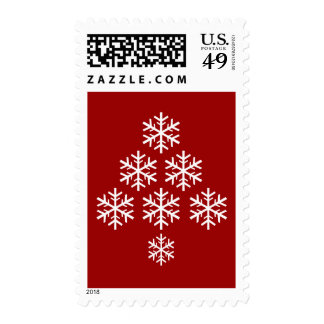 Árbol de navidad timbre postal