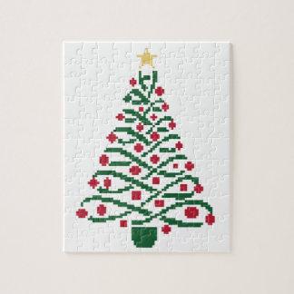 Árbol de navidad tradicional puzzle