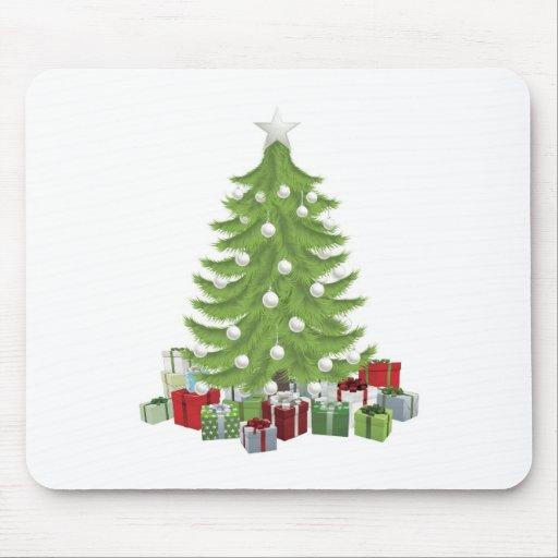 Árbol de navidad tradicional tapete de raton