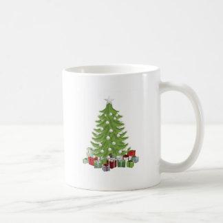 Árbol de navidad tradicional tazas de café