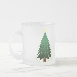 Árbol de navidad tradicional taza de cristal