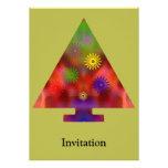 Árbol de navidad - triángulo adornado comunicados personales