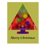 Árbol de navidad - triángulo adornado postales