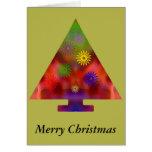 Árbol de navidad - triángulo adornado tarjeta