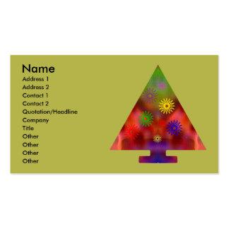 Árbol de navidad - triángulo adornado tarjetas de visita