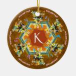 Árbol de navidad tropical del kajak ornamentos para reyes magos