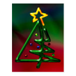 Árbol de navidad tubular del cromo postal