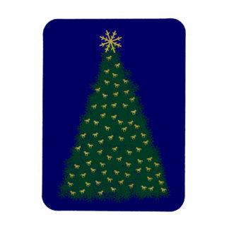 Árbol de navidad verde, caballos corrientes del imanes flexibles