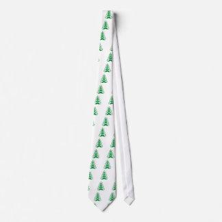 Árbol de navidad verde del bigote corbata
