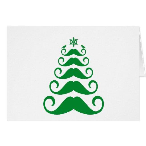 Árbol de navidad verde del bigote felicitacion