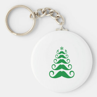 Árbol de navidad verde del bigote llavero