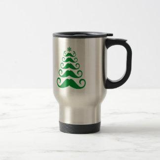 Árbol de navidad verde del bigote taza térmica