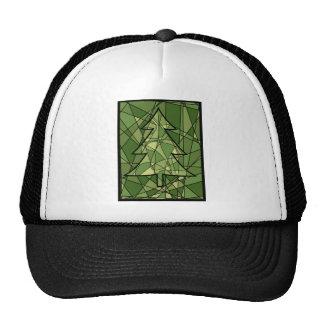 Árbol de navidad verde del mosaico gorro de camionero