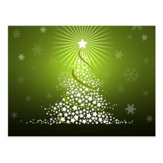 Árbol de navidad verde del vector postal