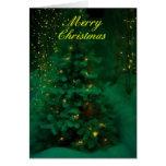 Árbol de navidad verde felicitaciones