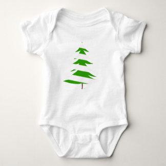 Árbol de navidad verde playera