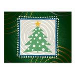 Árbol de navidad (verde) - postal