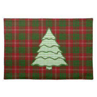 Árbol de navidad verde V2 de la tela escocesa Manteles