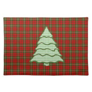 Árbol de navidad verde V3 de la tela escocesa Mantel