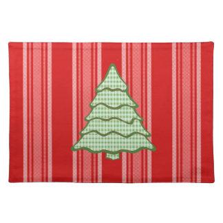 Árbol de navidad verde V4 de la tela escocesa Mantel