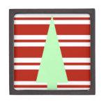 Árbol de navidad verde y rojo de la MOD Cajas De Regalo De Calidad