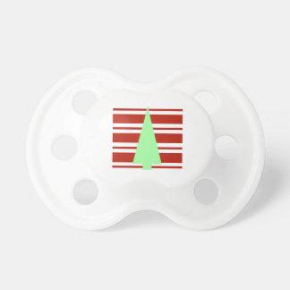Árbol de navidad verde y rojo de la MOD Chupete De Bebé