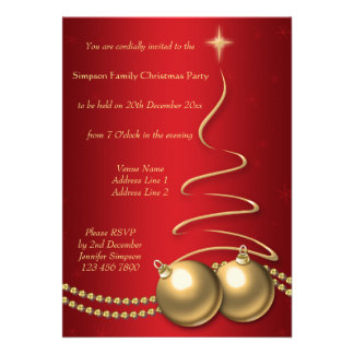 Árbol de navidad y chucherías - &Gold del rojo del Comunicado Personal
