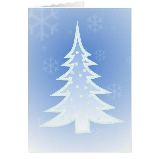 Árbol de navidad y copos de nieve - francés tarjetas