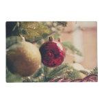 Árbol de navidad y decoración tapete individual